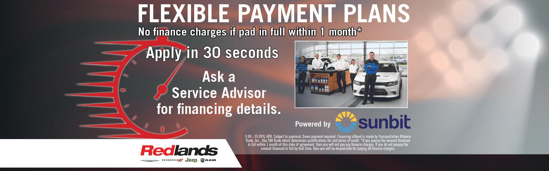 Flexible Payment Plans   Redlands CDJR