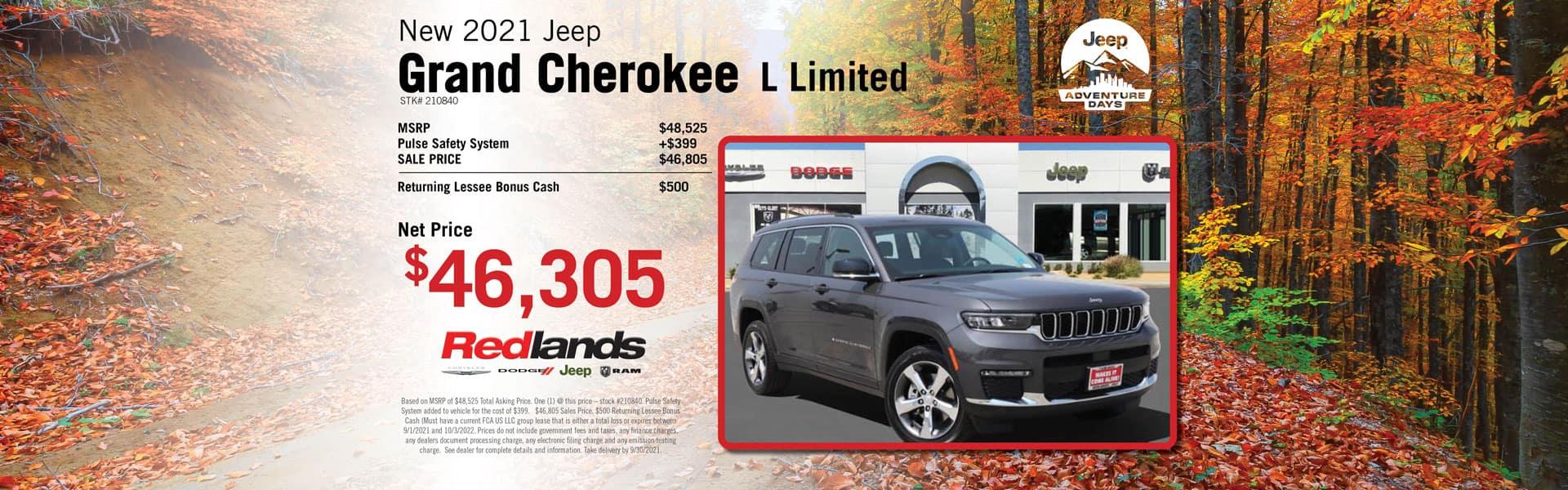 2021 Jeep Grand Cherokee L Buy Offer   Redlands CDJR