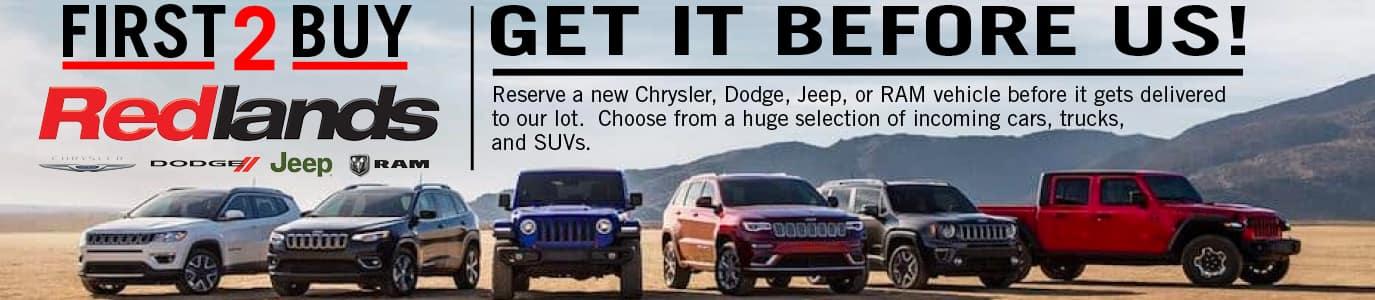 Upcoming CDJR Vehicles in Redlands, CA
