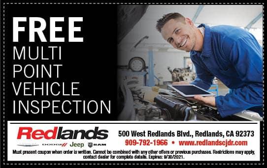 Free Multi Point Inspection   Redlands CDJR