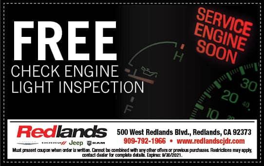 Free Check Engine Light Inspection   Redlands CDJR