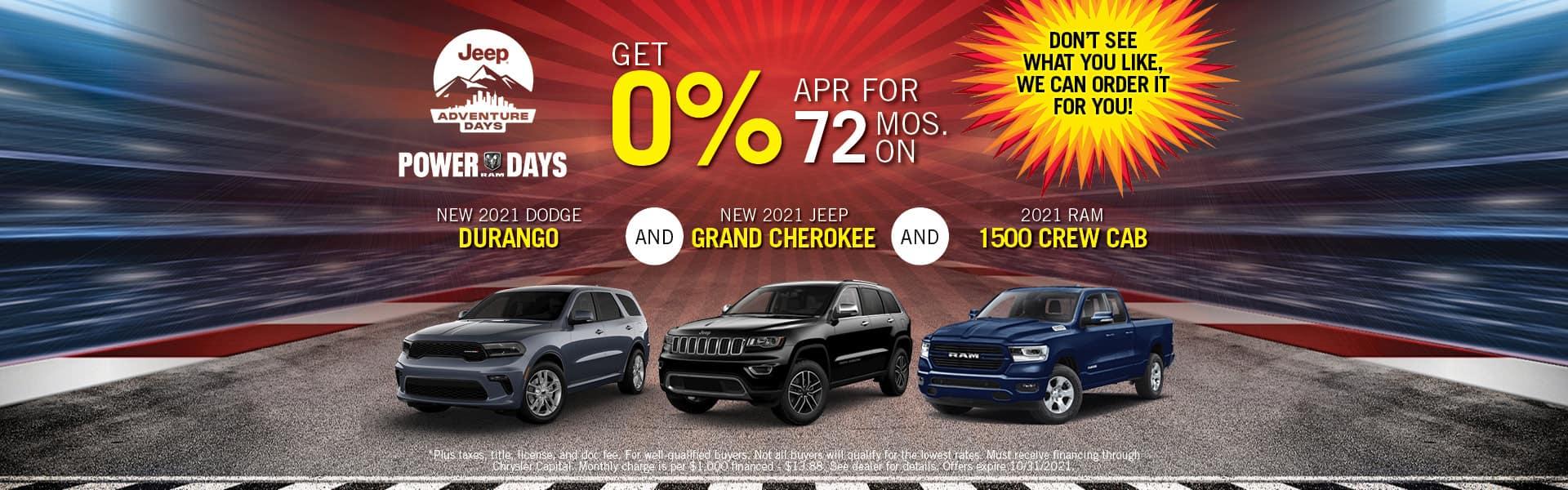 2021 Dodge Durango, Jeep Grand Cherokee & Ram 1500 Special Offers   Redlands CDJR