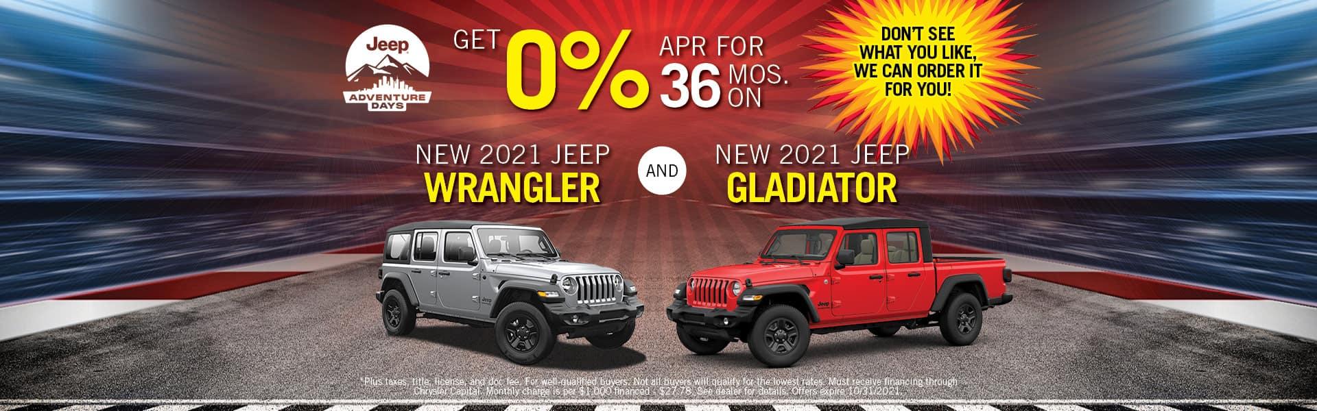 2021 Jeep Wrangler & Gladiator Special Offers- Redlands CDJR