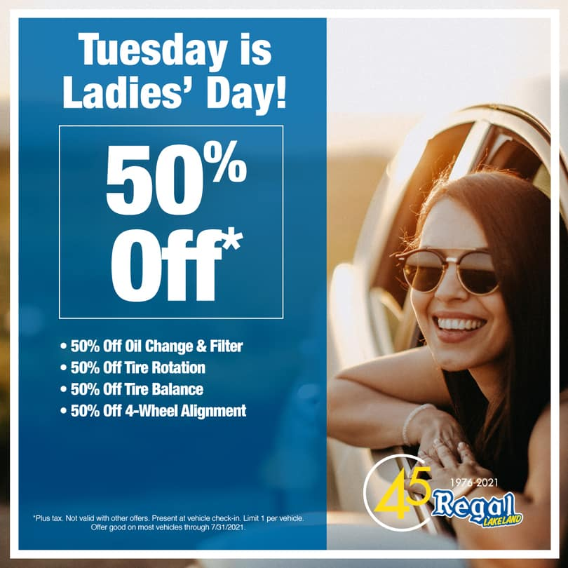 Tuesday is Ladies' Day!