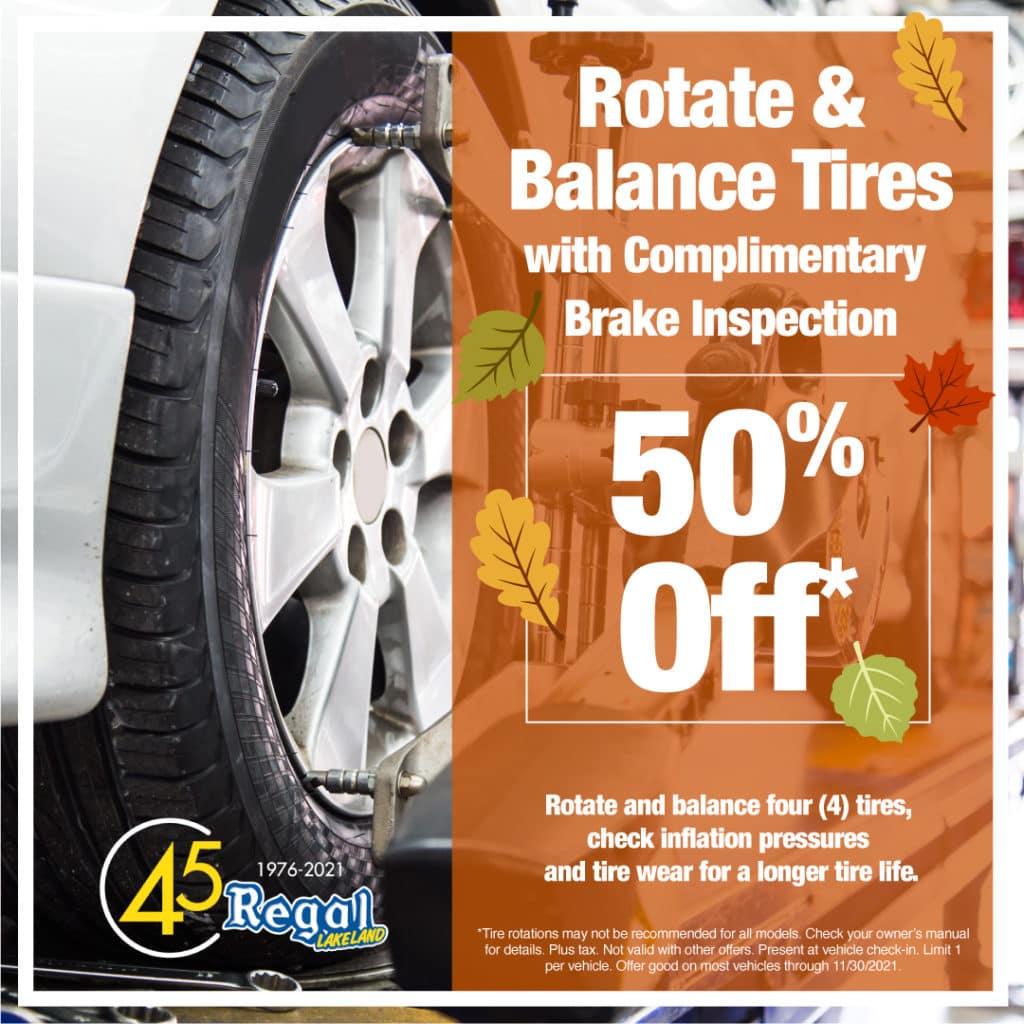 Rotation and Balance Tires