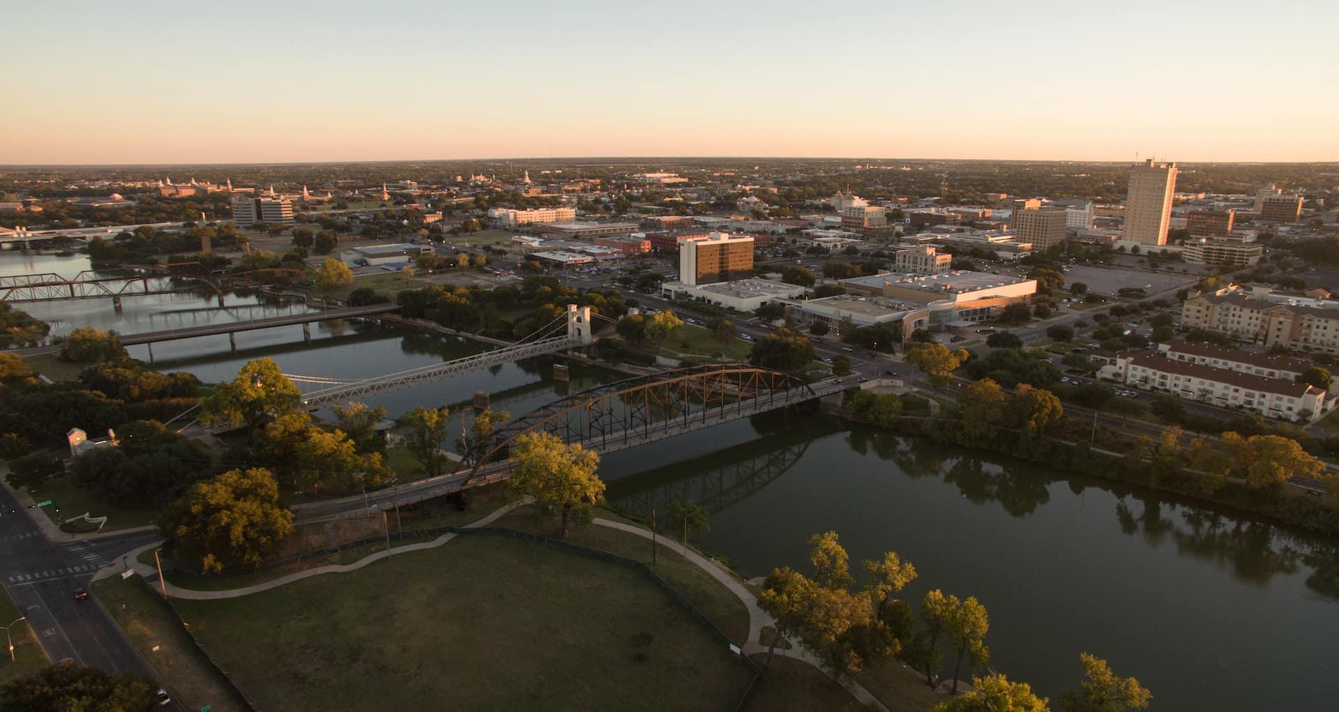 Birds Eye View of Waco Texas
