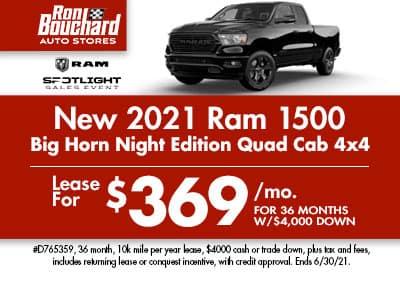 2021 Ram 1500 Big Horn Night Edition 4X4