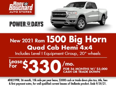 2021 Ram 1500 Big Horn Quad Cab 4X4