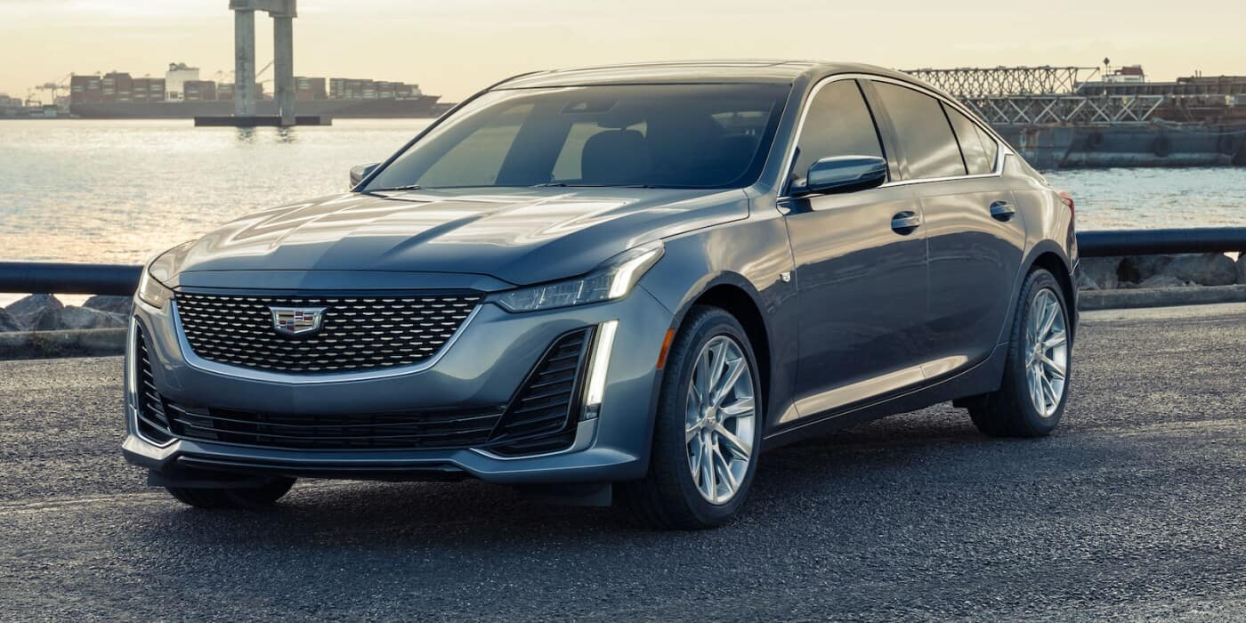 2021 Cadillac CT5 parked by water