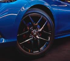 18-inch gloss-black wheels