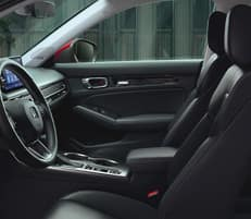 leather-trimmed interior