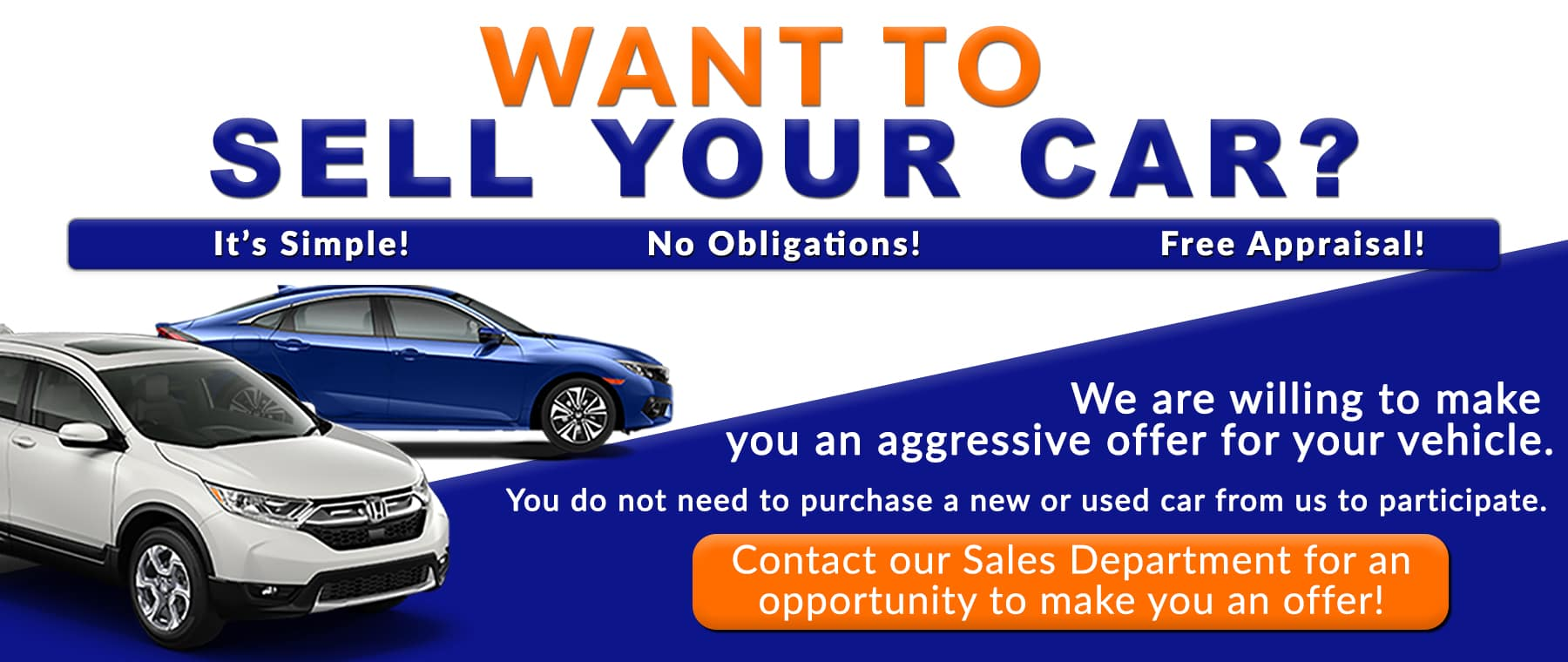 Want to Sell Your Car_ HomeBanner_Honda