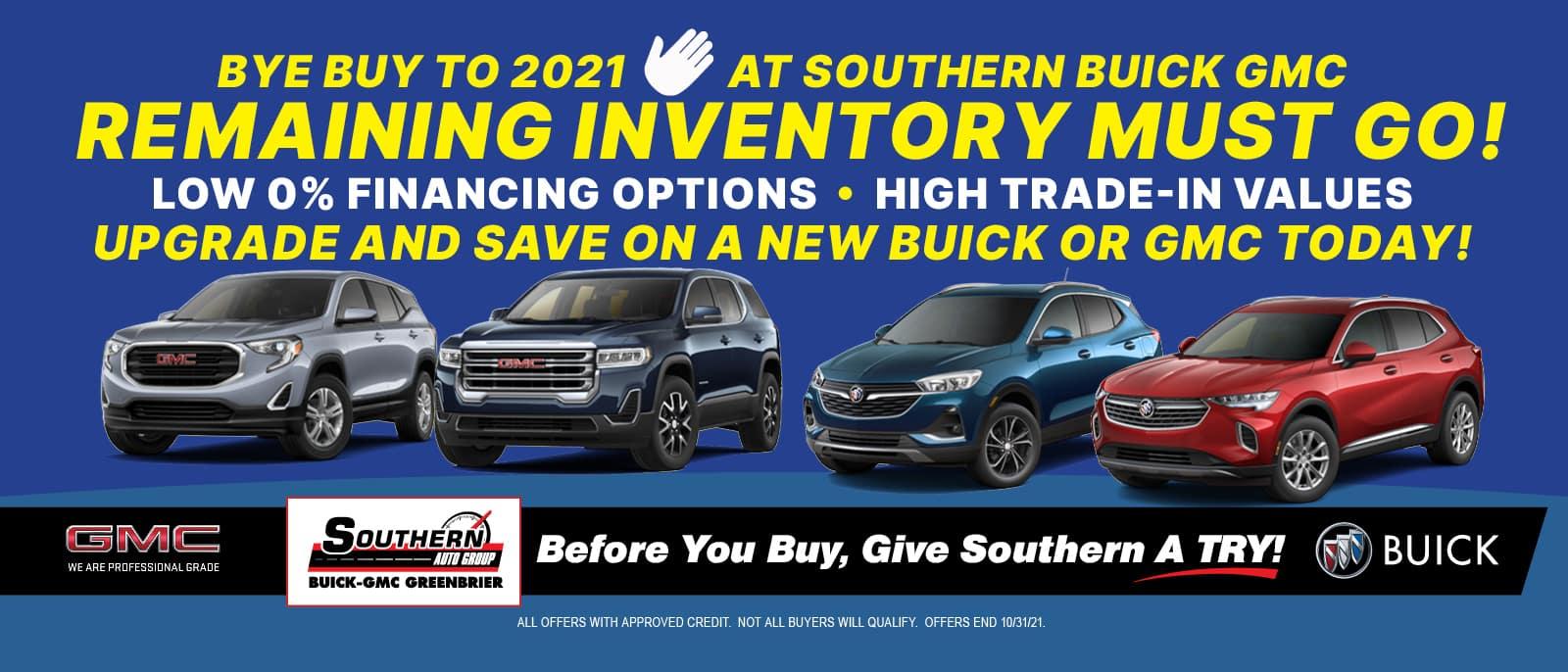 Greenbrier Buick GMC Bye Buy 2021