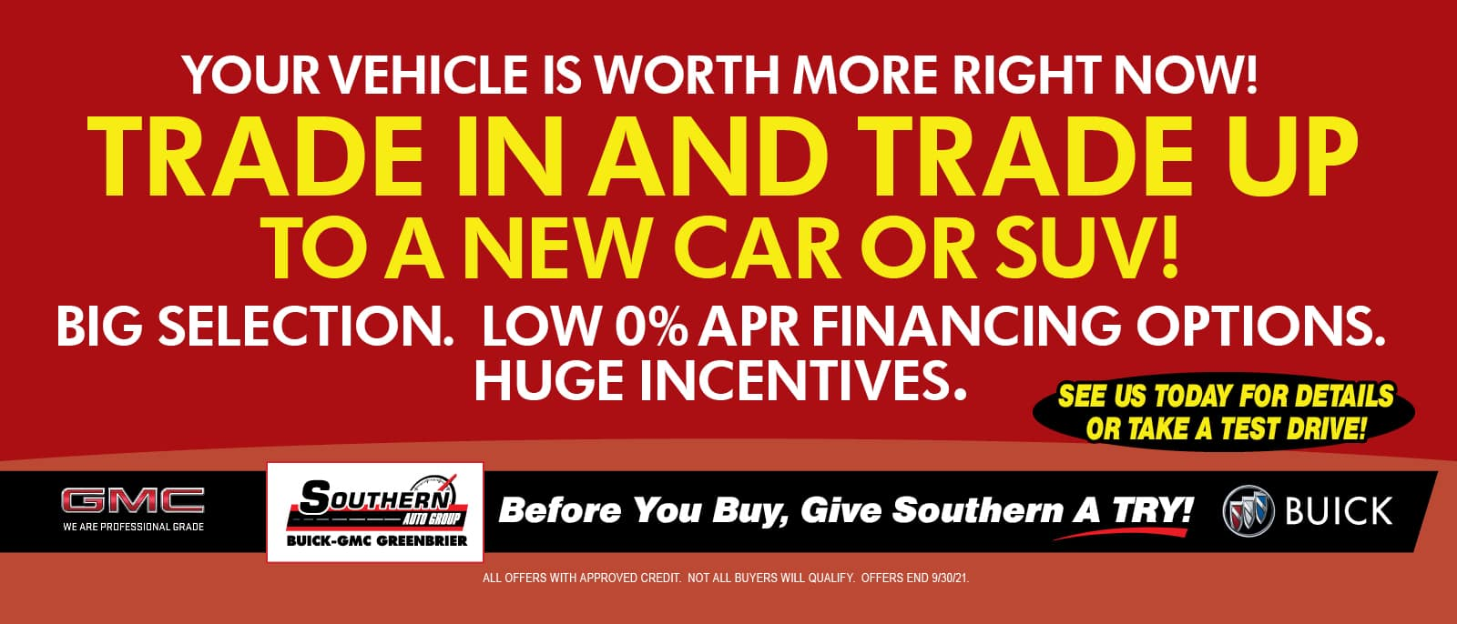 Trade Worth More – Greenbrier Buick GMC