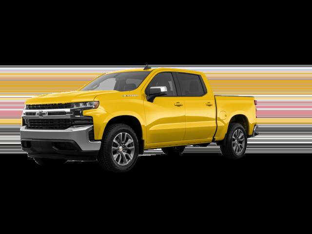 2021 Yellow Chevy Silverado LT.