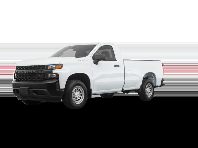 2021 Chevy Silverado white Work Truck.