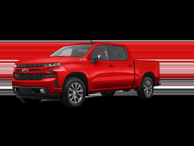 2021 Red Chevy Silverado  Custom.