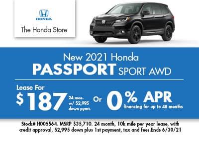New 2021 Honda Passport