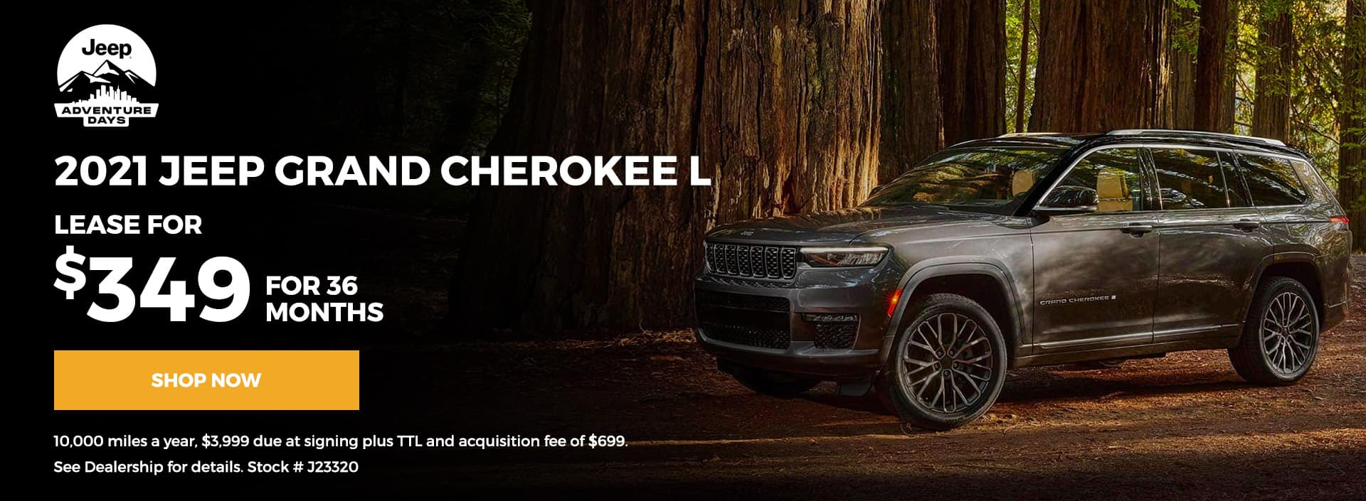 Grand Cherokee L Lease 36 months for $349