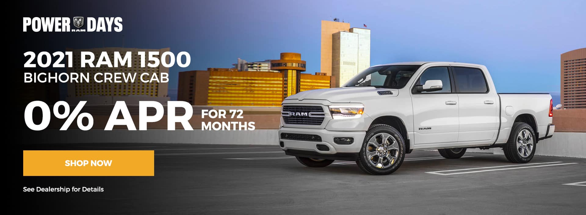 2021 Ram 1500 Crew Cab 0% for 72 months