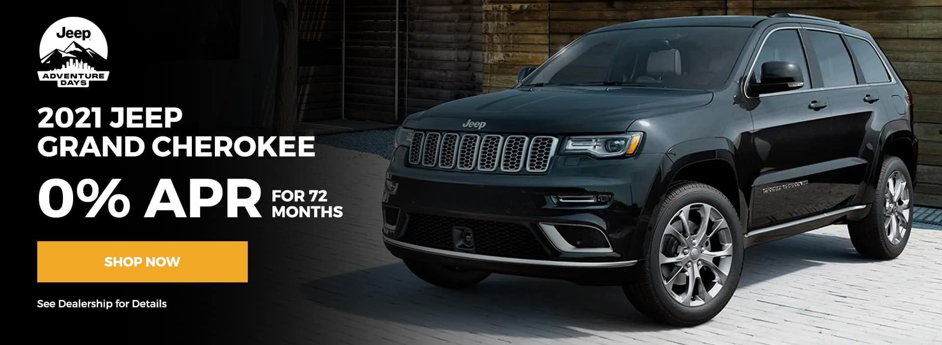 0% 72 months for the 2021 Jeep Grand Cherokee