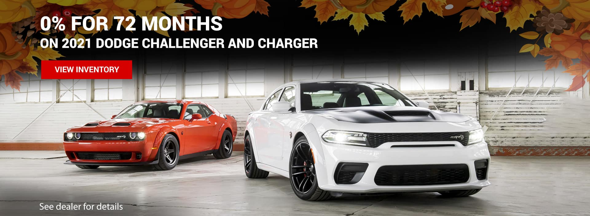 0% for 72 days Dodge Challenger and Charger