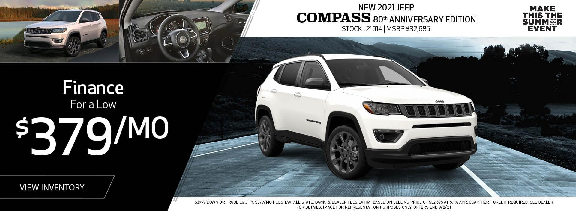 New 2021 Jeep Compass 80th Anniversary Edition