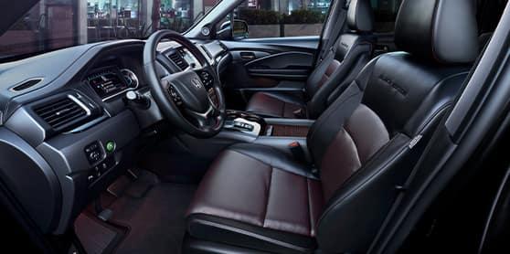 Compare the 2021 Honda Pilot vs. the 2021 Ford Explorer at Washington Honda   Driver's seat and steering column