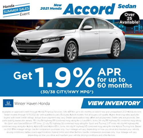 New 2021 Honda Accord